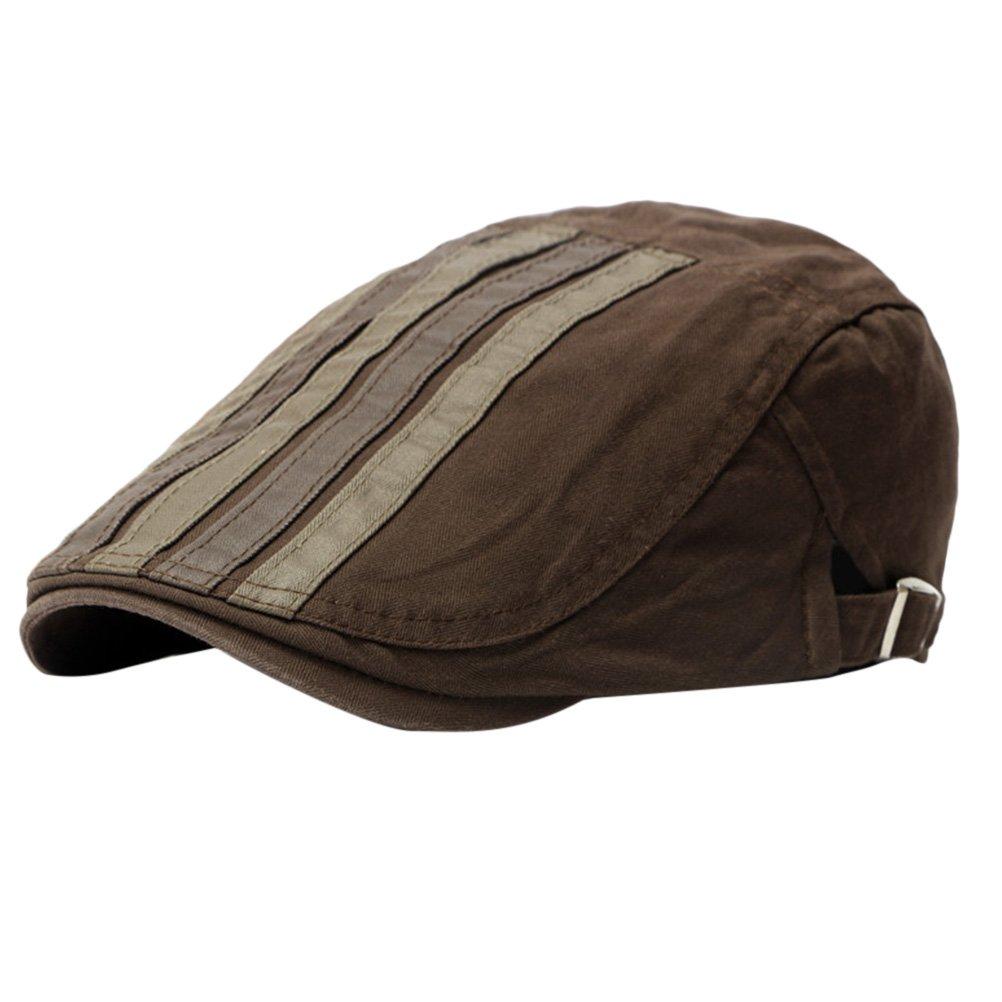 394f32a2c Zhhlaixing Unisex Adjustable Spring Summer Outdoor Sun Hat Ivy Cap Cabbie  Flat Cap Canvas Berets CQ0567  Amazon.co.uk  Clothing