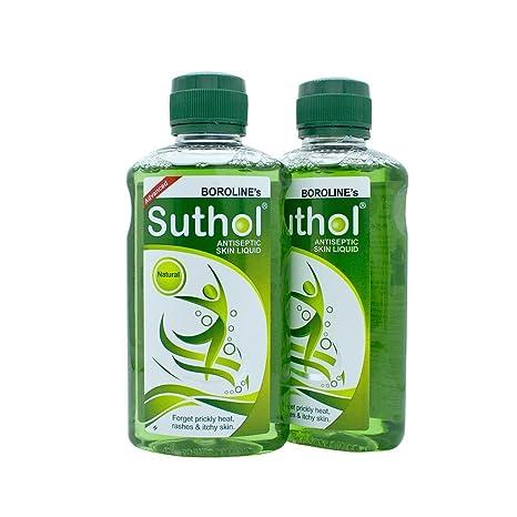 b1ed66546 Buy BOROLINE's SUTHOL Antiseptic Skin Liquid NATURAL 100 ml Pack of 2  Antiseptic Liquid Online at Low Prices in India - Amazon.in