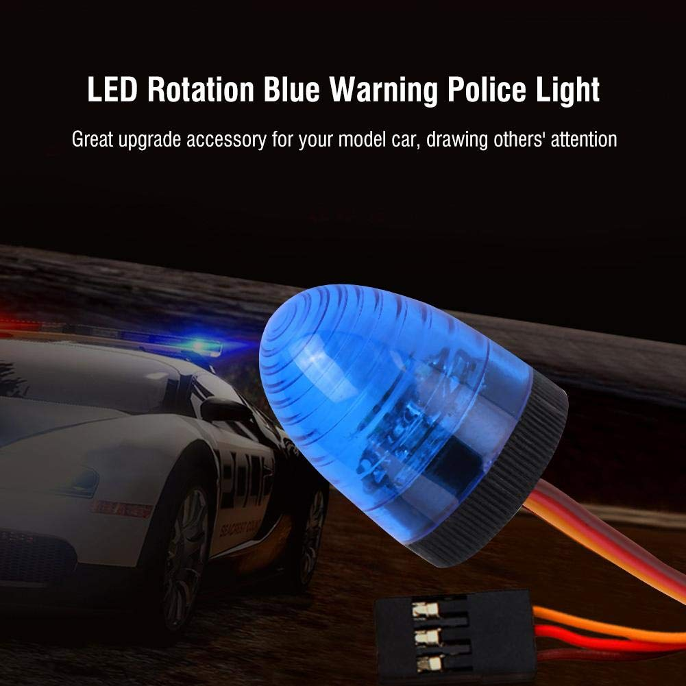 Dilwe RC Luz Pl/ástico Negro, M LED Rotaci/ón Azul Luz de Alerta para Control Remoto Coche Modelo RC Juguete