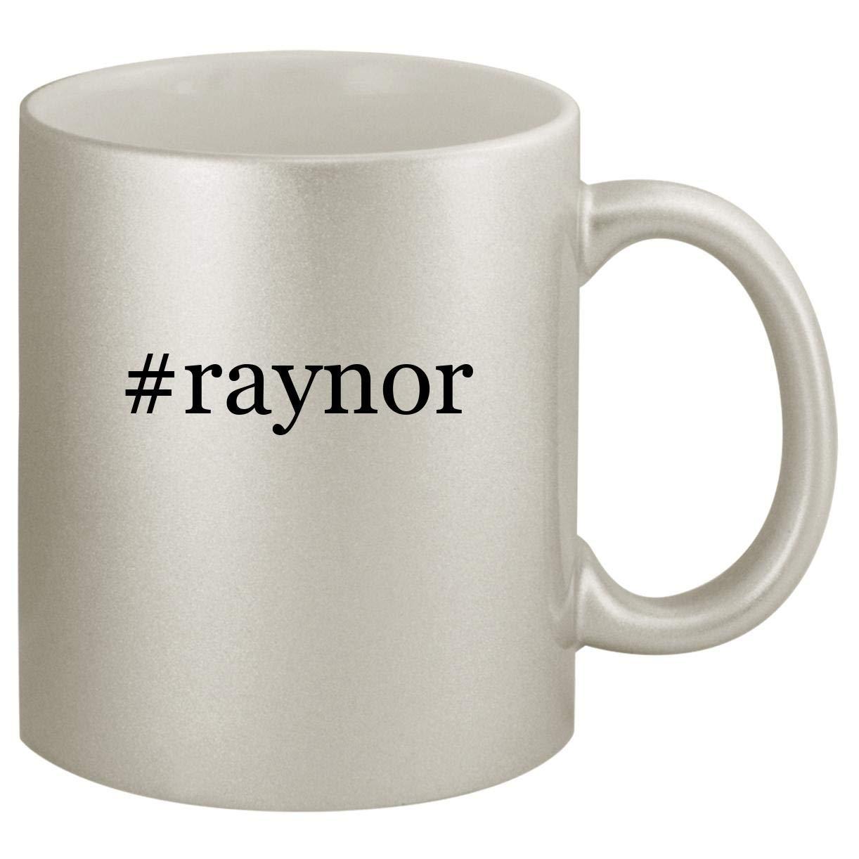 #raynor - Ceramic Hashtag 11oz Silver Coffee Mug, Silver