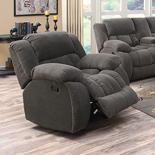 Coaster Home Furnishings Weissman Upholstered Glider Recliner - Recliner Chair Plush
