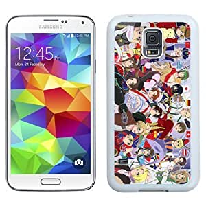 Durable Galaxy S5 Case,DIY I9600 Case Design with Hetalia Axis Powers Samsung Galaxy S5 SV I9600 Phone Case in White by heywan
