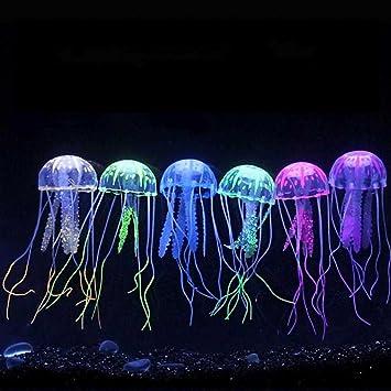 Danmu Art - 6 adornos para acuario con efecto brillante de jalea artificial, para decoración de acuario: Amazon.es: Productos para mascotas