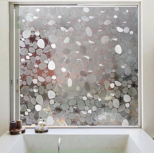 Aingoo Kieselstein Fensterfolie Sichtschutzfolie Milchglasfolie Window Film 90x200cm 024