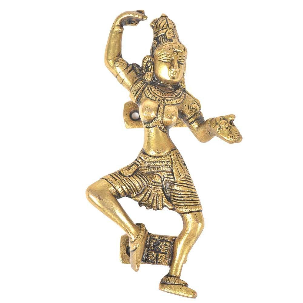 IndianShelf Handmade Brass Golden Indian Dancing Lady Door Handle/Pull- 2 Pieces(NMH-349)