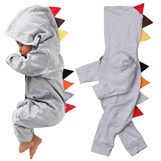 d2226ea87a58 DFSanaShanao Newborn Toddler Dinosaur Romper Jumpsuit Jumper Hooded Hoodies  Winter Outfits Clothes Bodysuit for Baby Girl