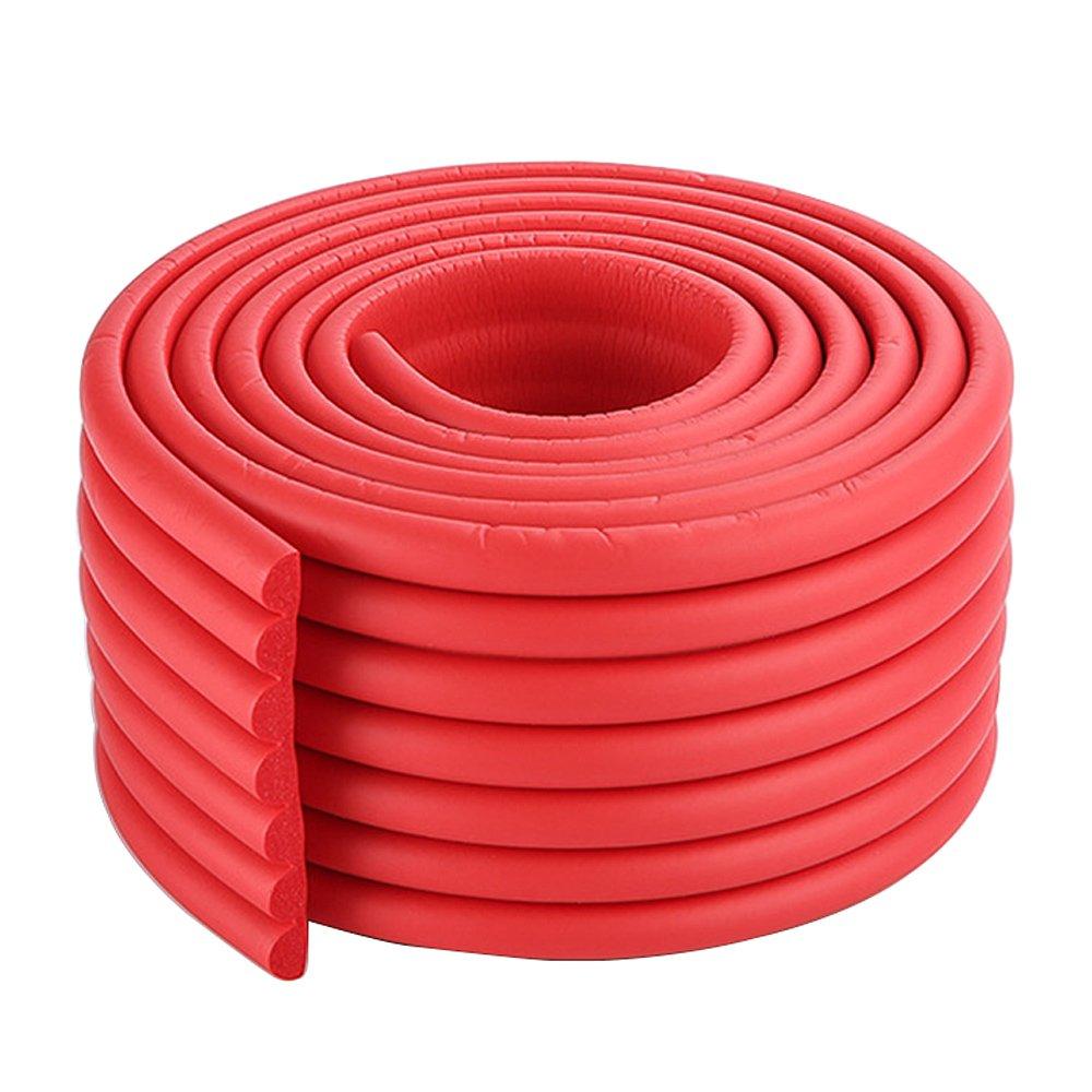 13ft multifunktionalen Schutzgummitischkante W-Form rote T/ür Keder protector kid Stufenkante 2x2 m