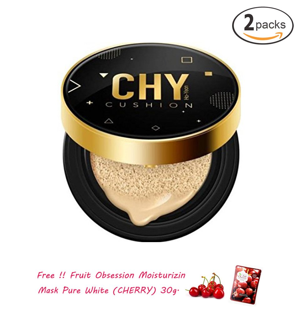 2 UNITS OF CHY BB CUSHION FOUNDATION MAKEUP NO# Y2 EVERLASTING MAGIC WITH PUFF LIGHT SKIN SPF50++ [GET FREE TOMATO FACIAL MASK]