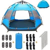 XISHUAI Camping Zelt Wasserdicht 2-3 Personen Pop Up Zelte - 50+ UV Schutz Automatische Doppellagiges Große 2-3 Mann Familie Zelte Wasserdicht für Backpacking Picknick Wandern 240 x 240 cm