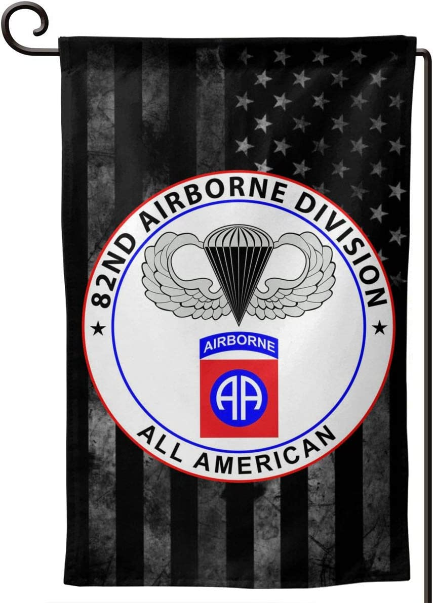 82nd Airborne Division Decorative Garden Flag Home Decor Yard Banner 12.5X18 Inch Printed Double Sided Square