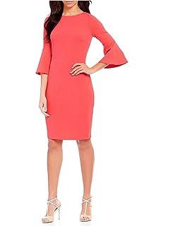 c27f3a7592a Calvin Klein Womens Criss-Cross Front Sleeveless Evening Dress Gray ...