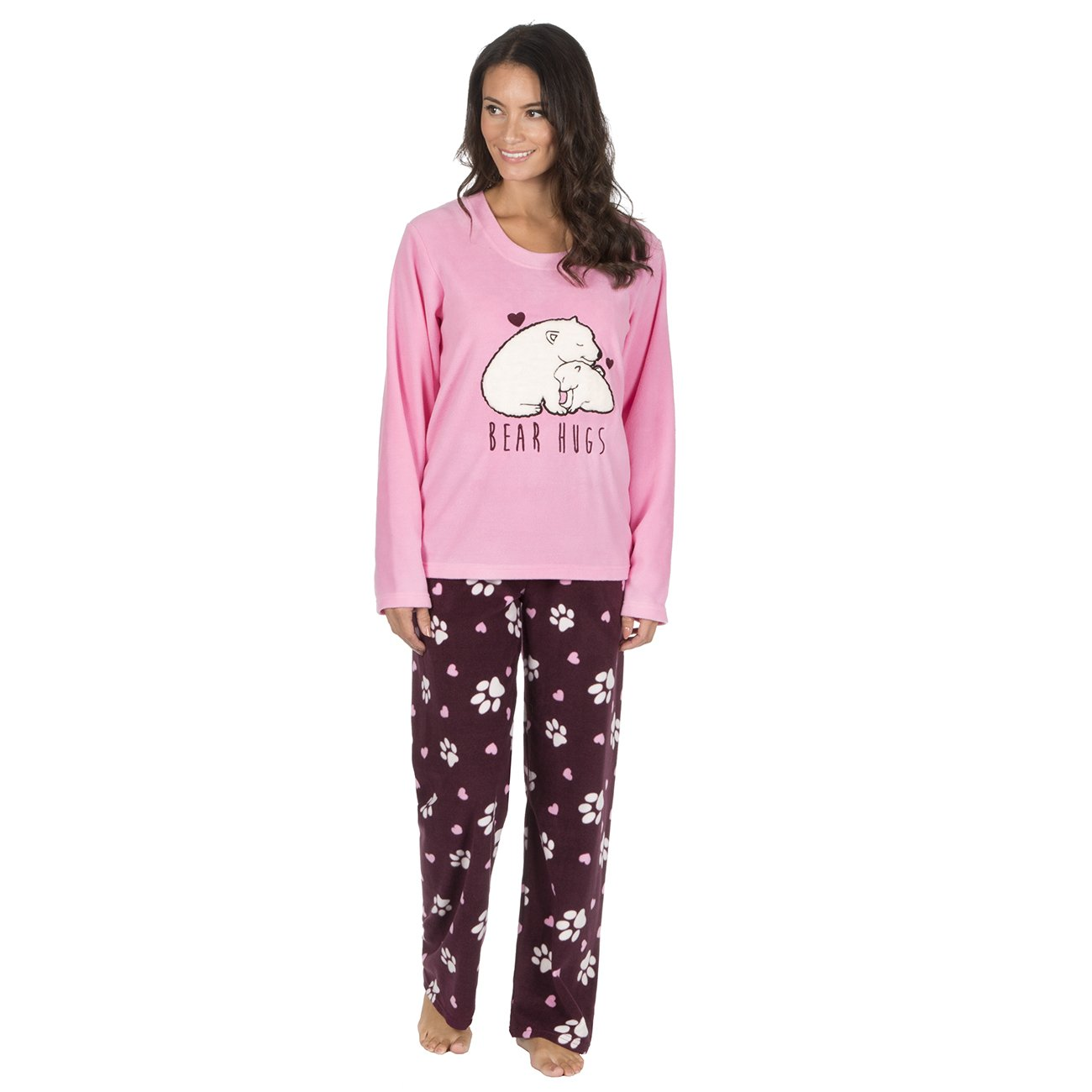 18b4529ab5 Forever Dreaming Ladies Novelty Soft Warm Micro Fleece PJ Animal Pyjama  Twosie  Amazon.co.uk  Clothing
