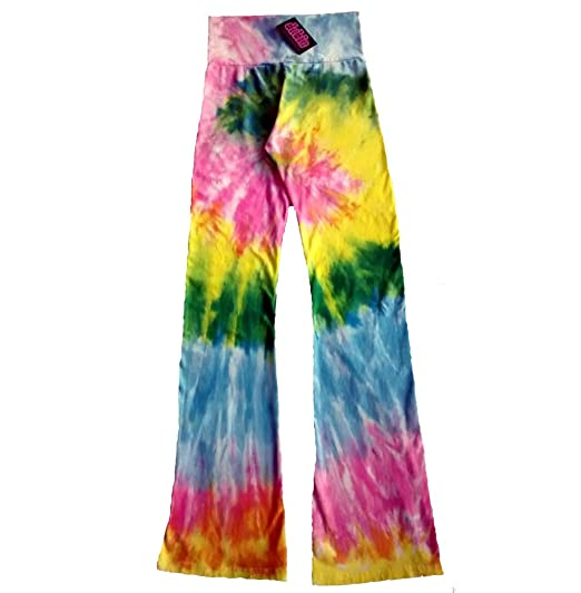 c7f1fb560fd52 Image Unavailable. Image not available for. Color: Pastel Rainbow Spiral  Tie Dye Chakra Yoga Pants ...