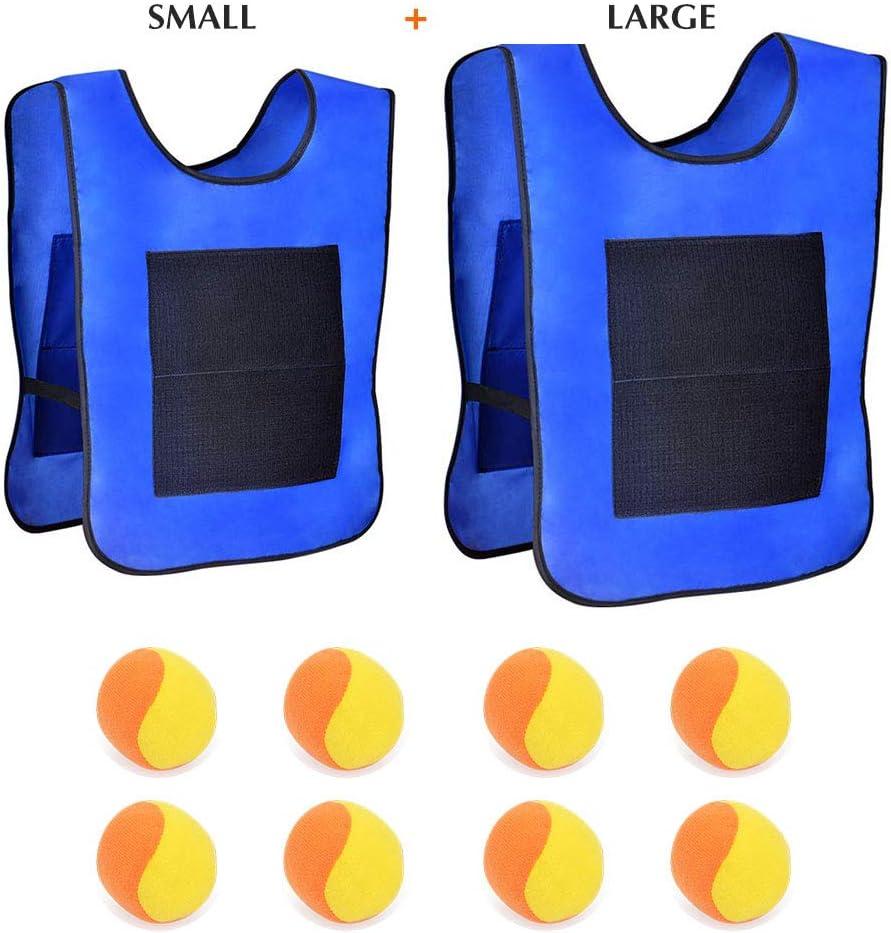 Rouge kitchen-dream 2 cibles Gilets avec 8 Boules de Coton Lancer Le Jeu de Cible Lancer la Balle Velcro Gilet Ensemble