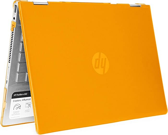 "mCover Hard Shell Case for 14"" HP Pavilion X360 14-CDxxxx / 14-DDxxxx Series Convertible 2-in-1 laptops (Orange)"