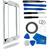 MMOBIEL Kit de remplacement d'écran tactile pour Samsung Galaxy S6 G920 Series (Blanc) inclus: Vitre de rechange / Pincette / Ruban adhésif 2mm / Chiffon microfibre / Kit d'outillage spécifique / fil métallique
