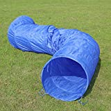 PAWZ Road Dog Tunnel Dog Agility Training Open Tunnel 16.4 Ft Long, 24'' Open-Outdoor Training and Exercise Equipment for Dogs, Puppies and Other Animals