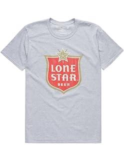 b95496b5 Lone Star Beer - Vintage Black T-Shirt   Amazon.com