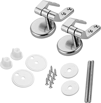 Lystin Toilet Seat Hinges Replacement Parts with Fittings, Pair of