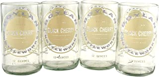 product image for Tumblers Drinking Glasses Made From Recycled Soda Bottles 8 Oz - set of 4 (Cherry)