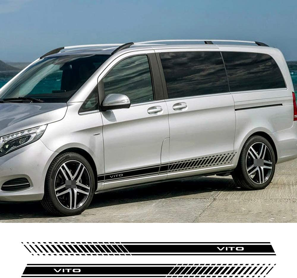 ZYHZJC 2pcs Car Sides Streifenaufkleber Vinyl Stylish Graphics Decal Styling f/ür Mercedes-Benz Vito V Class W447 V260