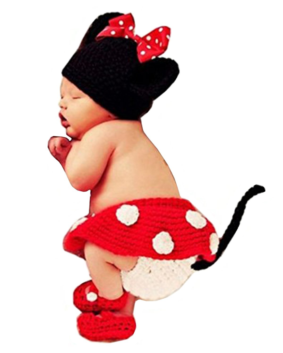 Amazon.com  ZEAMO Fashion Unisex Newborn Boy Girl Crochet Knitted Baby Costume Set Photography Photo Prop Outfits (Mickey Mouse)  Baby  sc 1 st  Amazon.com & Amazon.com : ZEAMO Fashion Unisex Newborn Boy Girl Crochet Knitted ...