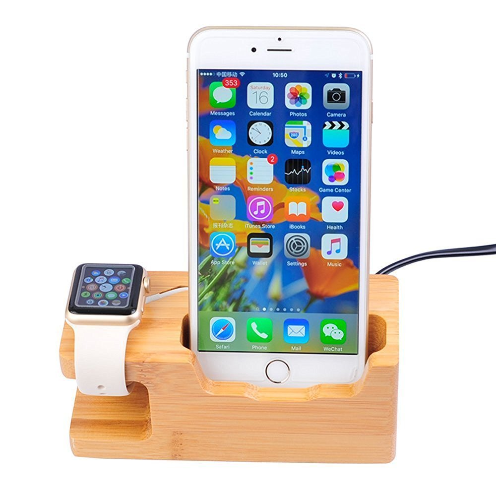 3 Port USB Charging Station Multi-Port Stand Dock Desktop Organizer Compact Multiple USB Charger & Phone Docking Station for Android IOS Apple Watch USB04