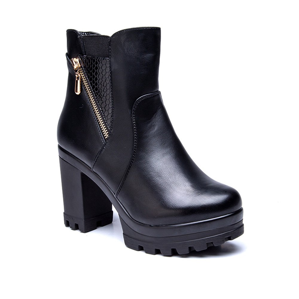 Cestfini Bt001-parent - Botas para mujer, color negro, talla 38 EU: Amazon.es: Zapatos y complementos