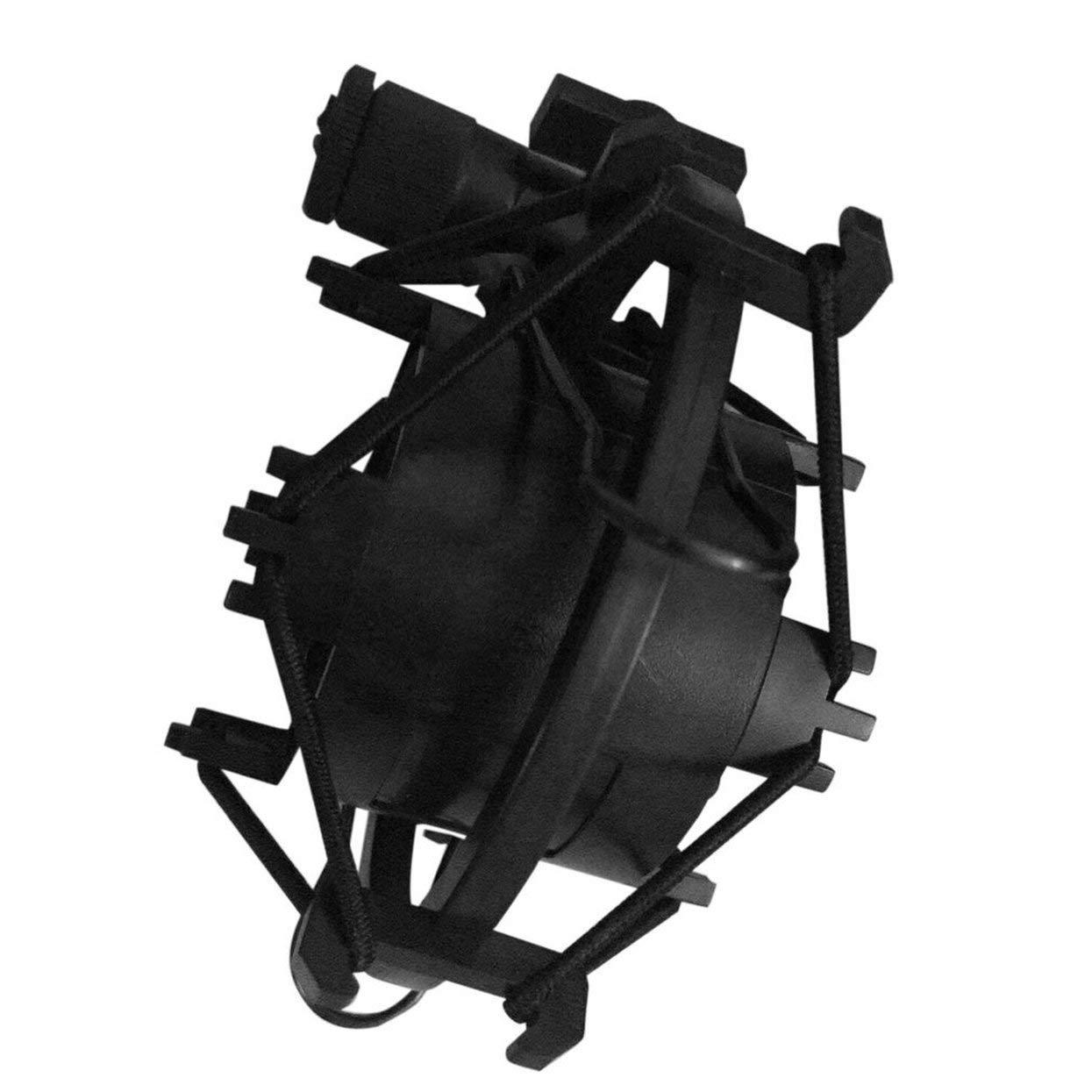 Negro Universal 3KG Bearable Load Mic Microphone Shock Mount Clip Holder Stand Radio Studio Soporte de grabaci/ón de sonido