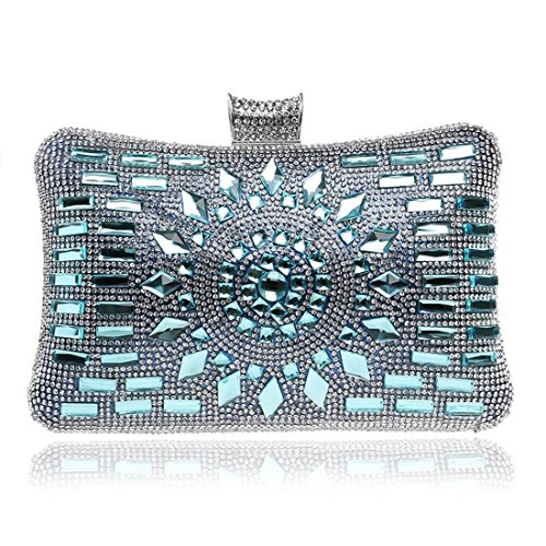 evening Bag encrusted Evening Diamond Bag Color Bag And held American Banquet Gray European bag Silver Ladies Hand Evening Fly 6pq4xq