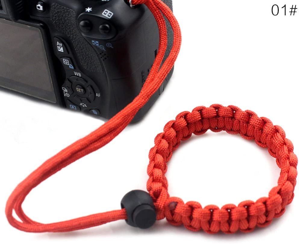 ajzdnzvr 1PCS Hand Strap Adjustable Braided Camera Wrist Strap Bracelet Wristband for Cameras Binoculars and Other Stuff