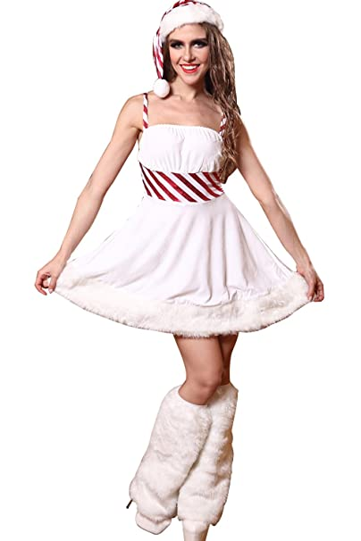 Amazon.com: mizhome para mujer muñeco de nieve blanco ...