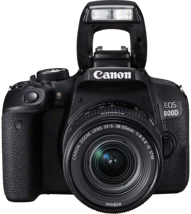 Canon EOS 800D/Rebel T7i Digital SLR Camera with 18-55 is STM Lens Black + 16GB Memory Card