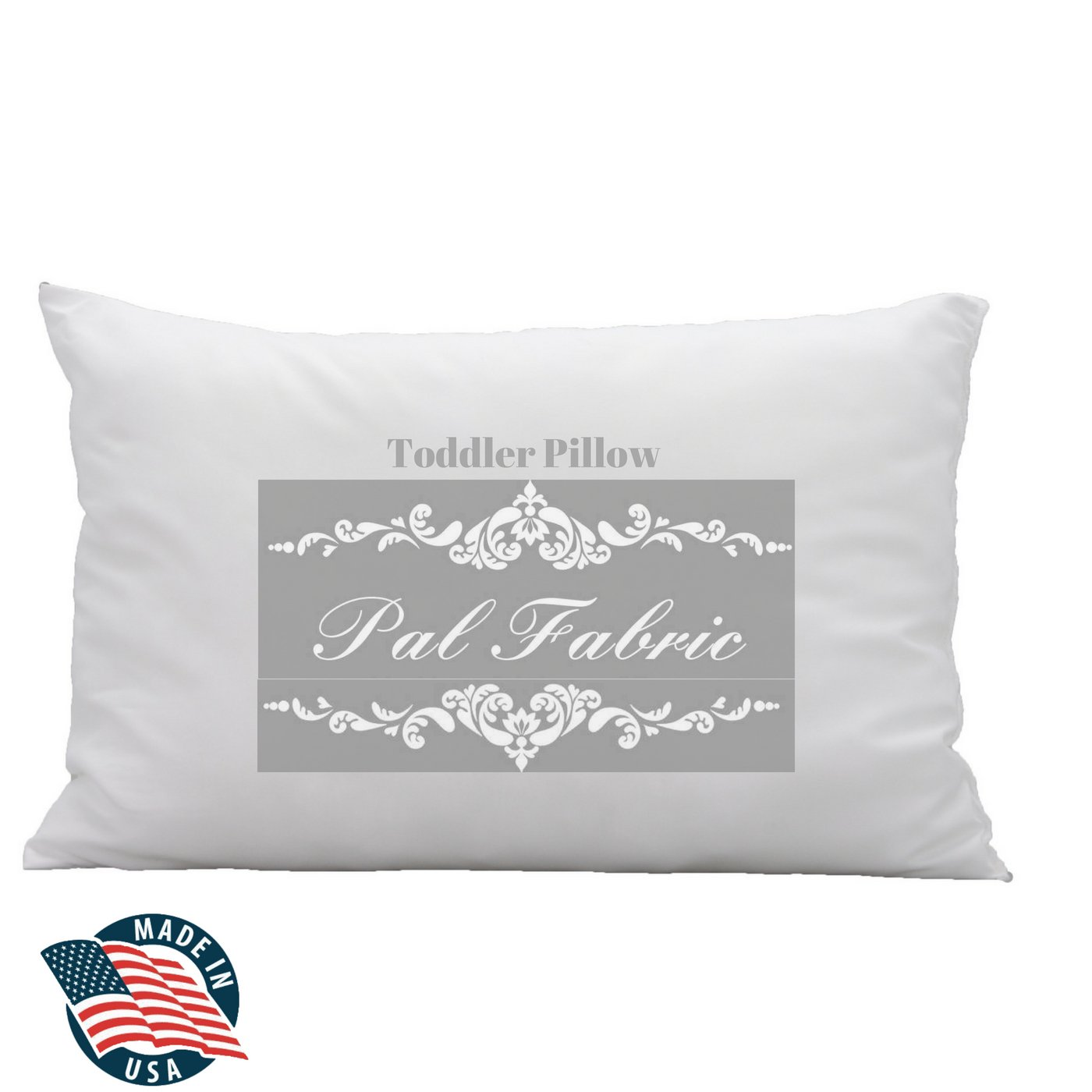 Premium Pure White 100% Cotton Toddler Pillow (13x19 with Cotton PillowCase) Machine Washable - Hypoallergenic- Made in USA