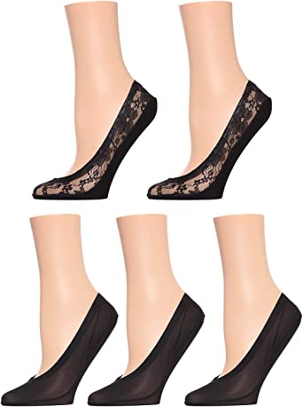 MeMoi Lace/Solid Fine Edge Shoe Liners