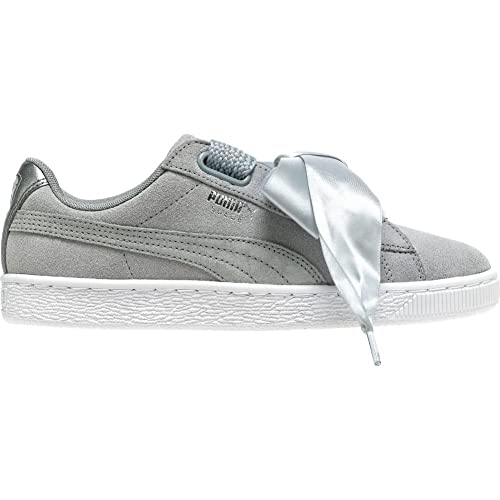 Zapatillas Puma - Basket Heart Safari WnŽs Gris/Plateado/Blanco: Amazon.es: Zapatos y complementos