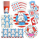 Max and Ruby Premium Birthday Party Supplies (Standard) Pack- 66 Piece Set, Serves 8 ~ from Prime Party