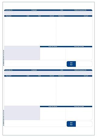 Custom Forms SE96 Sage A4 Compatible Address Pay Advice Slip: Amazon ...