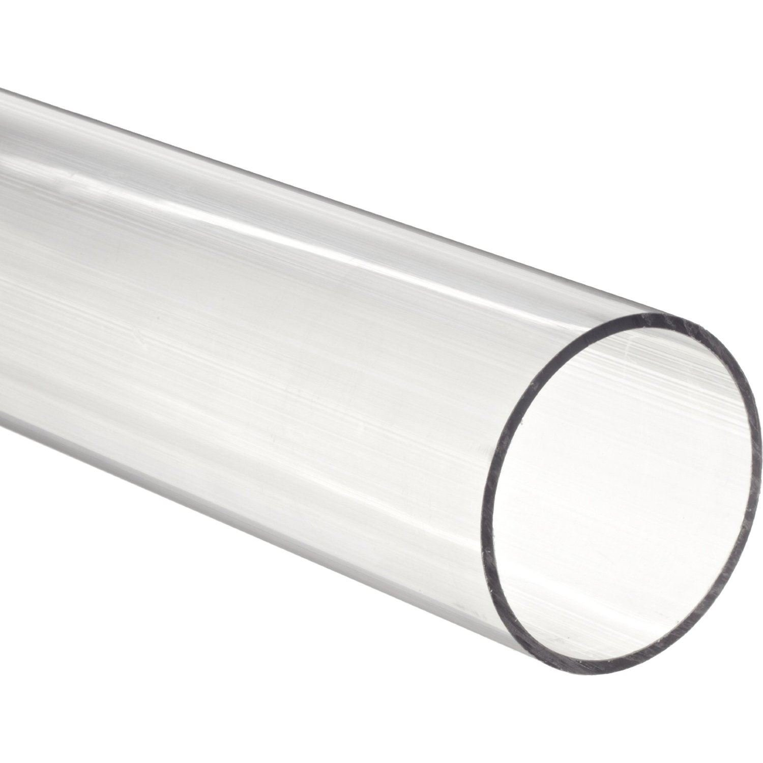 48'' Polycarbonate Round Tube (Clear) - 2-1/2'' ID x 3'' OD x 1/4'' Wall