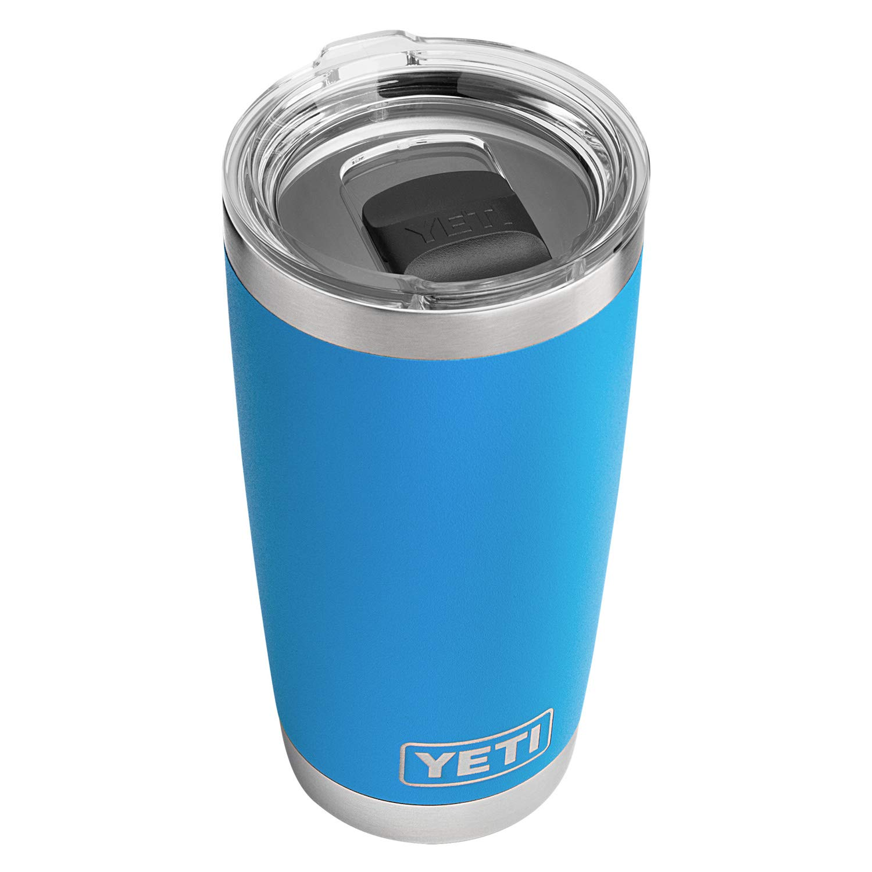 Tahoe bluee YETI Rambler 20 oz Stainless Steel Vacuum Insulated Tumbler w MagSlider Lid, Harbor Pink