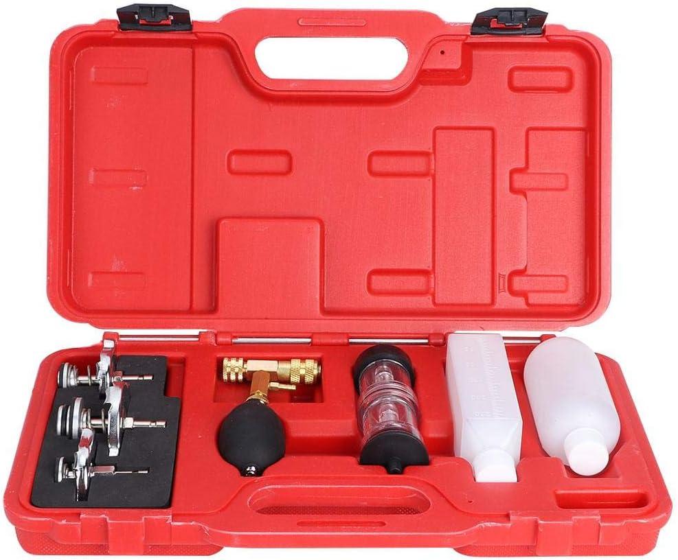 Probador de cilindros probador de detector de fugas de junta de culata de CO2 con 3 adaptadores de bayoneta Kit de herramienta autom/ática