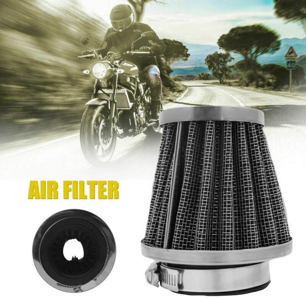 Sunwan Motorrad-Luftfilter 42 mm Universal doppellagiger Stahlfilter f/ür ATV Quad Pit Dirt Bike Buggy Go Kart Scooter Motor