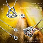 Alex Perry Necklace Gift for Her, Flying Swan 925 Sterling Silver Swan Pendant Necklace Elegant and Charming, Gift Box…