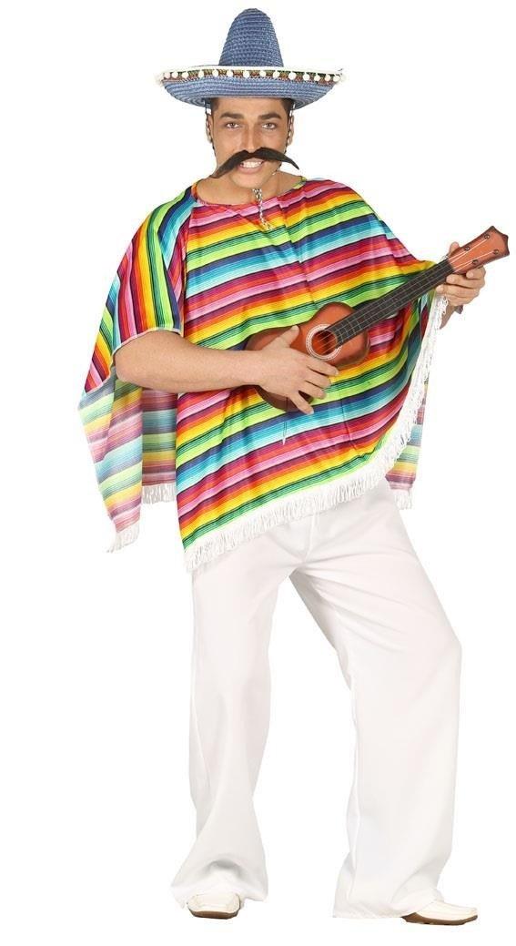 Disfraz de poncho mexicano adulto: Amazon.es: Juguetes y juegos