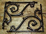 8 Cast Iron Antique Style LARGE IVY SCROLL Brackets Garden Braces Shelf Bracket , Garden Braces Shelf Bracket , Garden Braces Shelf Bracket RUSTIC , Wall Brackets Shelf Support for Storage