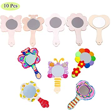 KEWEIS 10pcs Creative DIY White Wood Mold Mirror Painting Handmade on wood kitchen crafts, rustic kitchen crafts, country kitchen crafts, sewing kitchen crafts, primitive kitchen crafts, homemade kitchen crafts,