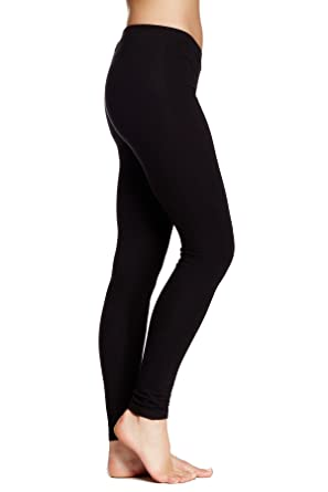 3eaa8a6555f907 HUE Basic Cotton Leggings at Amazon Women's Clothing store: