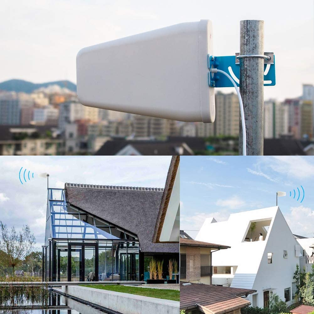 Antena 4G Exterior para Amplificador de Señal Móvil 698-2700MHz 9dBi gsm 3G 4G LTE Antena direccional LPDA con 10 M RG58 Cable N Macho Conector