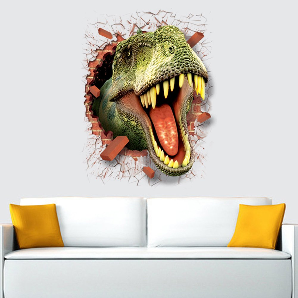 Molie Dinosaurio 3D Dolphin pared pegatina Mural etiqueta ...