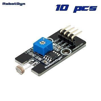 Amazon.com: RobotDyn - 10 PCS - Photosensitive Light Sensor LDR with ...
